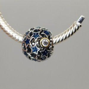Pandora Night Sky Charm Blue Enamel & Clear bead